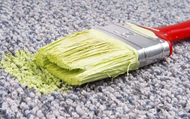 arcylic paint stain carpet
