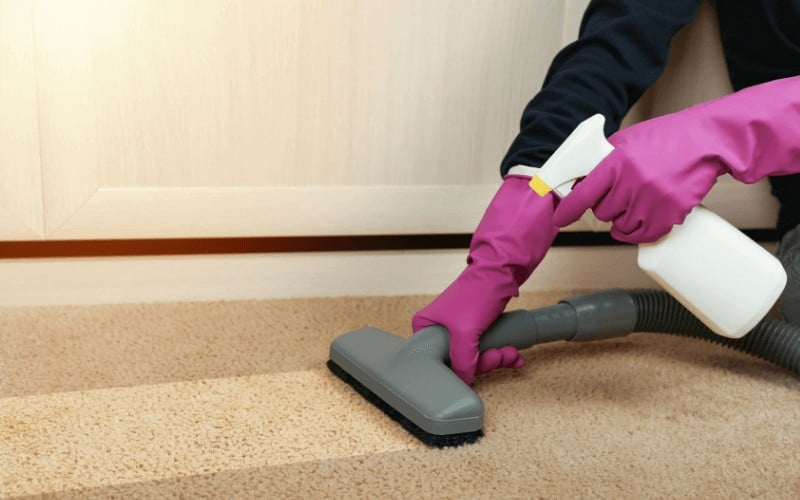 cleaning carpet dirt