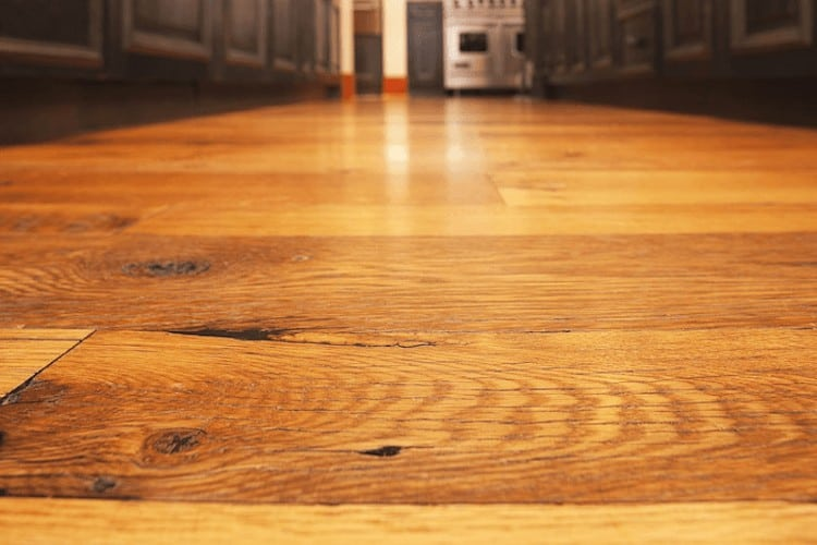 how to clean old damaged wood floor