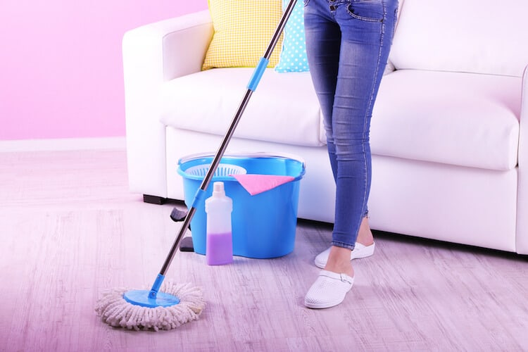 dry mopping vs wet mopping