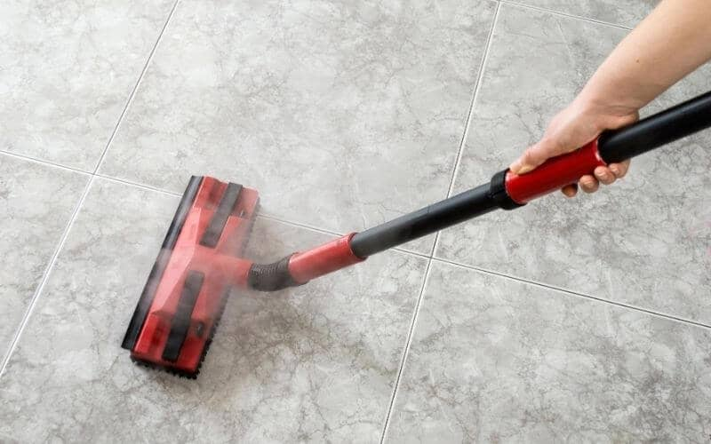 steam cleaning concrete