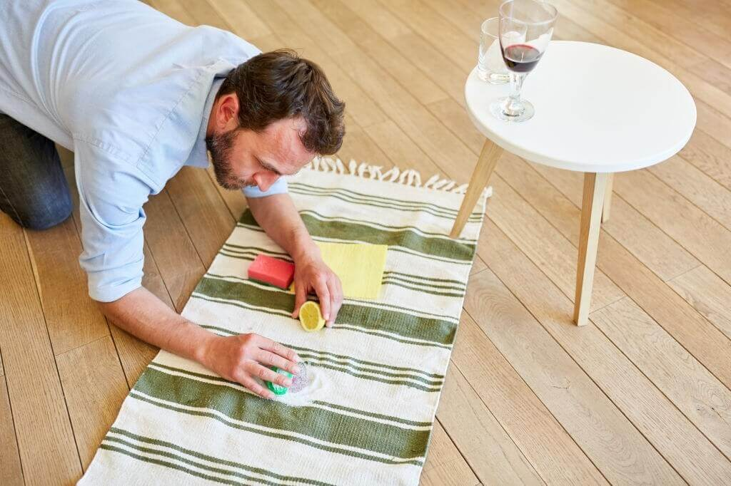 How to get glue out of carpet