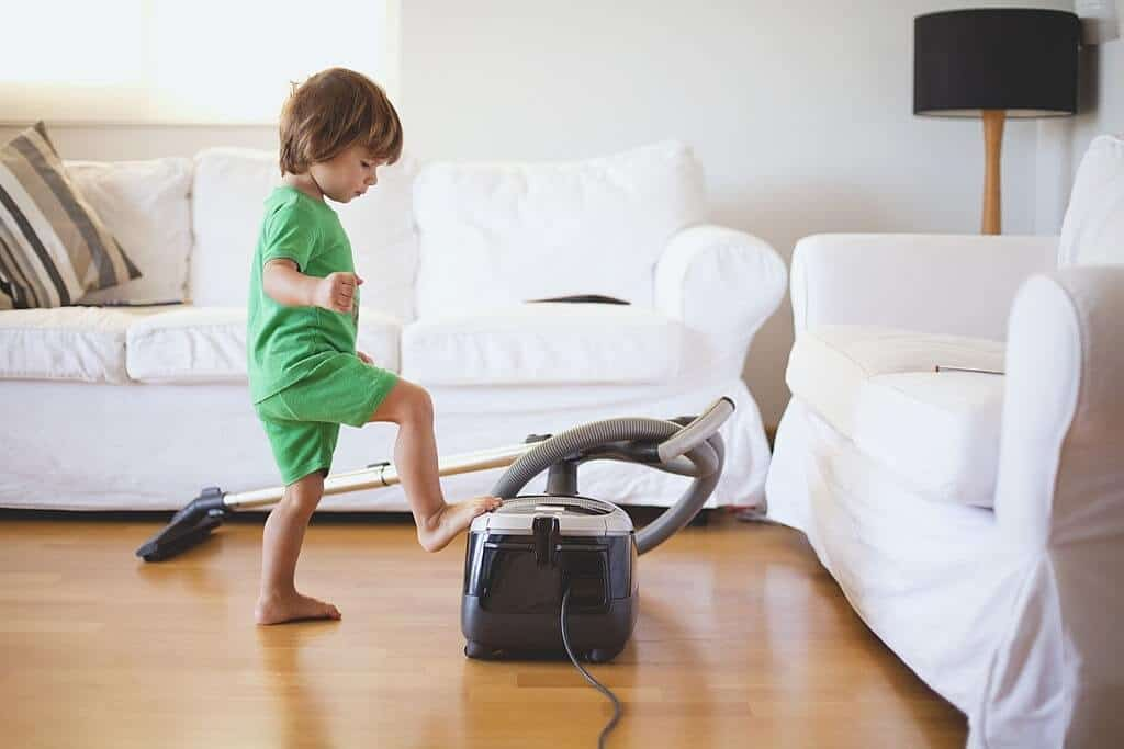 vacuum cleaner and baby