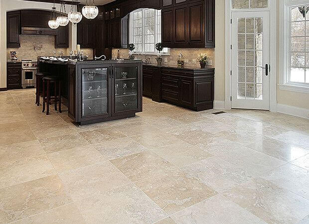 how to clean travertine flooring
