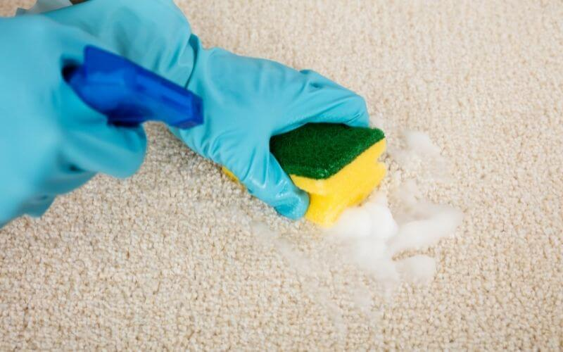 cleaning dirt off carpet