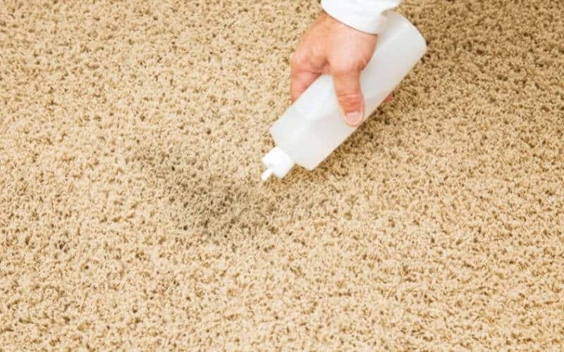 cleaning stain on carpet