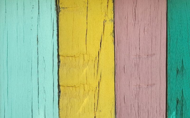 different colors of painted wood