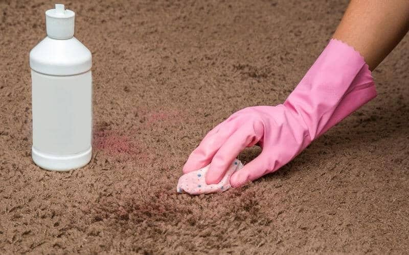 how to get dried playdough out of carpet