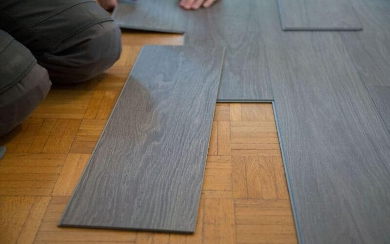 what causes yellow stains on vinyl flooring