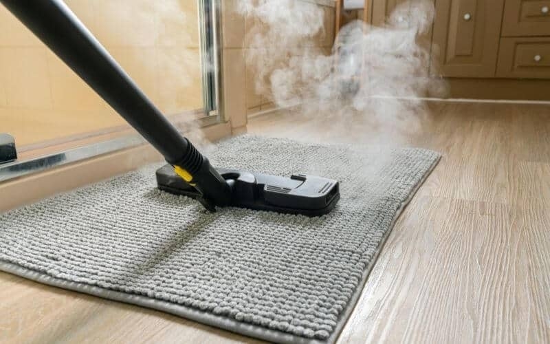 how to clean bathroom mats