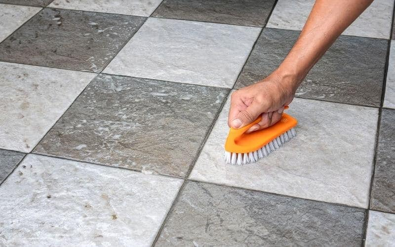 how to get nail polish off tile floor