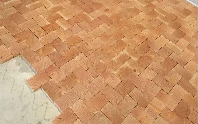 how to install end grain flooring
