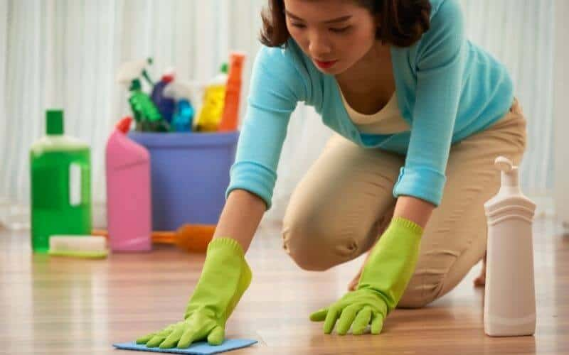 how to clean grease off hardwood floors