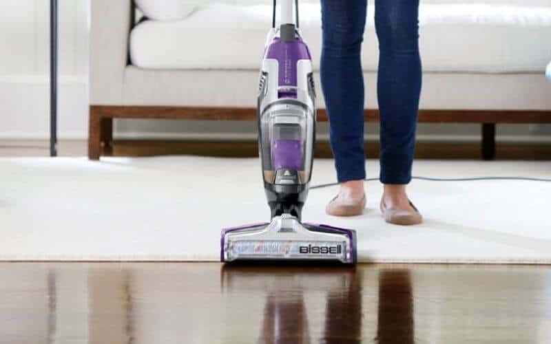 cleaning carpet with bissell crosswave pet pro