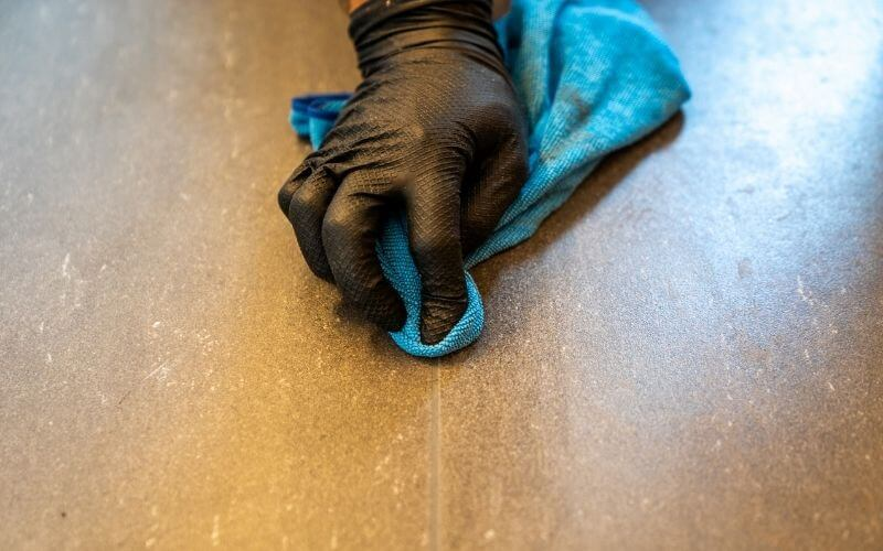 easiest way to clean grout without scrubbing