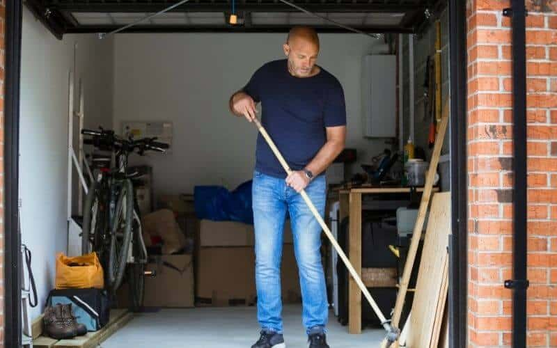 how to clean garage floor without pressure washer