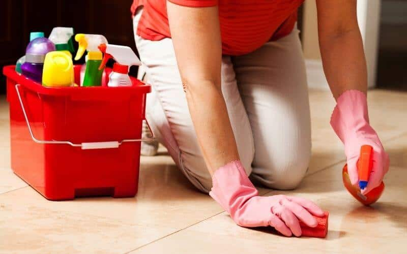 how to remove odor from tile floor