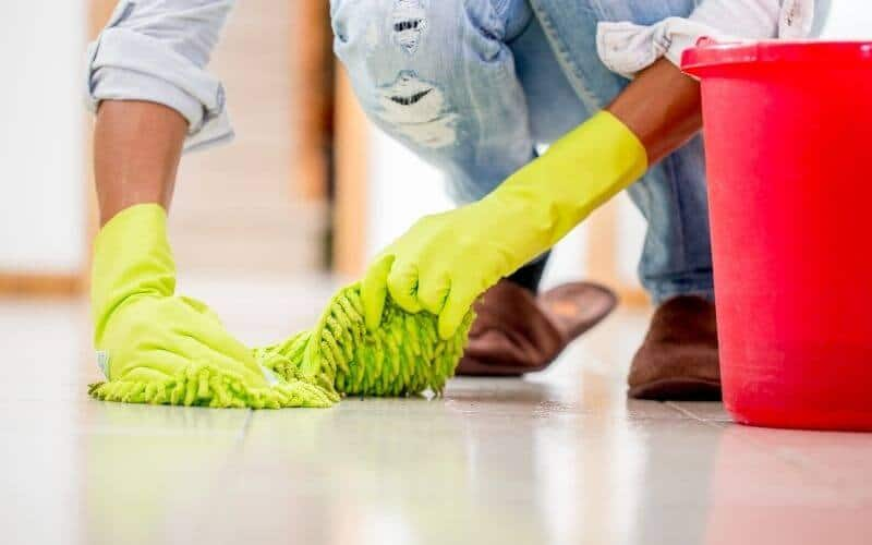 how to remove scratches from porcelain tiles