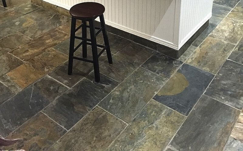 what to clean slate floors with